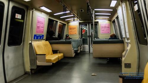 Inside A BART Car at 9 PM in Ekatchrome Tones