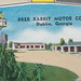 US GA  Dublin ROADSIDE c.1950 Great Colorful Mid-Century View of THE BRER RABBIT MOTOR COURT located in RESIDENTAL CITY on US-441 near US-319 and US-801