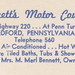 US PA Bedford ROADSIDE c.1950 Great Colorful View of BENNETTS MOTOR COURT on US-220 at the Turnpike Your Hosts Mr & Mrs M. Merl Bennett Owner Operators-