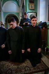 09 марта 2020, Студенты духовной школы молились за великопостными богослужениями первой седмицы