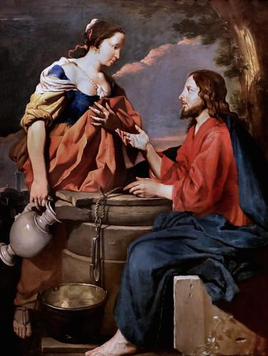 IMG_1545A Matthias Stom (Stomer) 1589-1670 Utrecht, Roma, Napoli, Palermo. Le Christ et la Samaritaine  Christ and the woman of Samaria  ca 1630 Zürich Kunsthaus