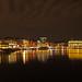 Binnenalster in Hamburg bei Nacht/Inner Alster in Hamburg at night/晚上在汉堡内阿尔斯特/ألستر الداخلي في هامبورغ في الليل