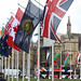 Flags at Parliament Square