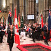 Flag bearers at the Commonwealth Day service