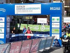 Campeonato de Europa de Duatlón 8 Punta Umbría team clavería Nacho Gálvez campeón Junior