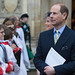 HRH Prince Edward and the Countess of Wessex leaving Westminster Abbey