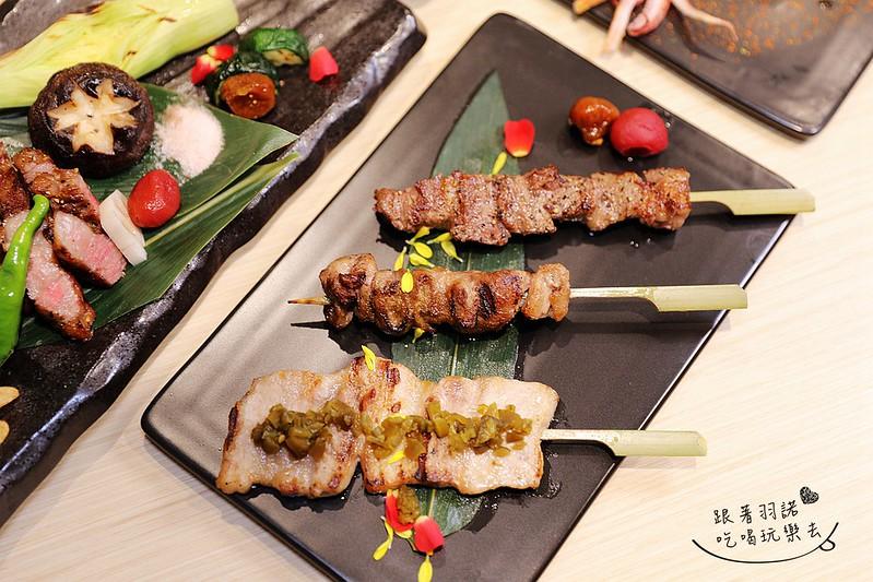 歐買尬日式海鮮串燒台北松山區日式料理推薦金箔壽司124