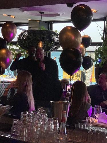 Tafeldecoratie 3ballonnen The Oysterclub Rotterdam The Brunch met Quido van de Graaf en Re-Play