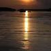 Sunset over islets in Rio Negro, Amazonia