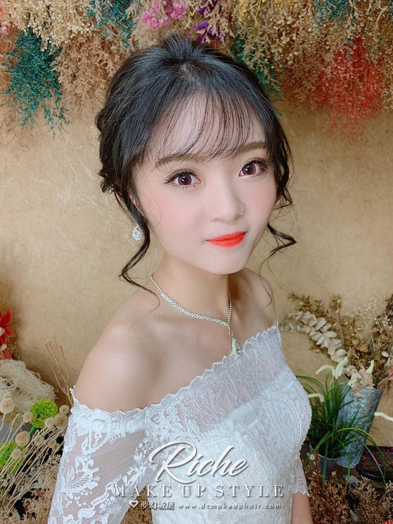 【新秘RICHE】新娘造型創作 /韓系女神盤髮
