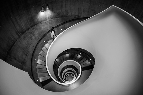 Upwards in a spiral staircase