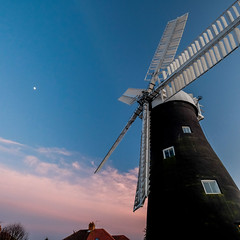 Holgate Windmill at sunset, March 2020 - 5