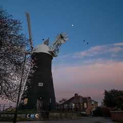 Holgate Windmill at sunset, March 2020 - 1