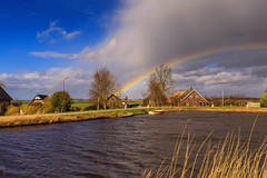 Rainbow @ the dutch landscape