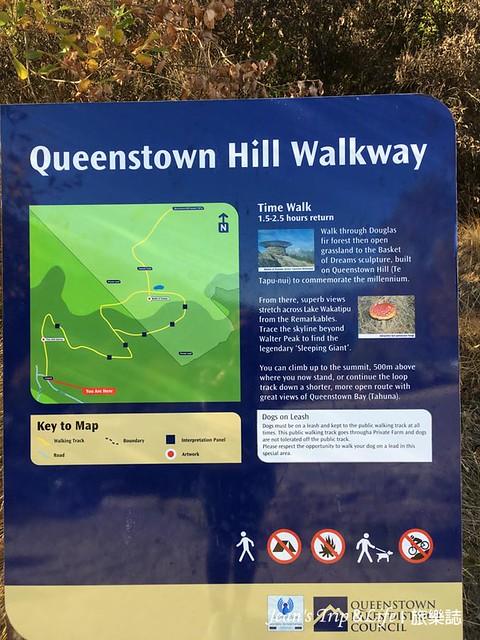 紐西蘭皇后鎮Queenstown Hill Walkway 登山口