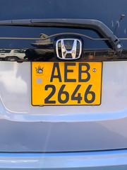 Zimbabwe Auto Tag/License
