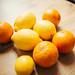 Group of fresh lemons.