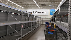 March 14, 2020 - A sad sign of the times at Wal-Mart. (Alisa H)