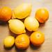 Fresh lemons from above