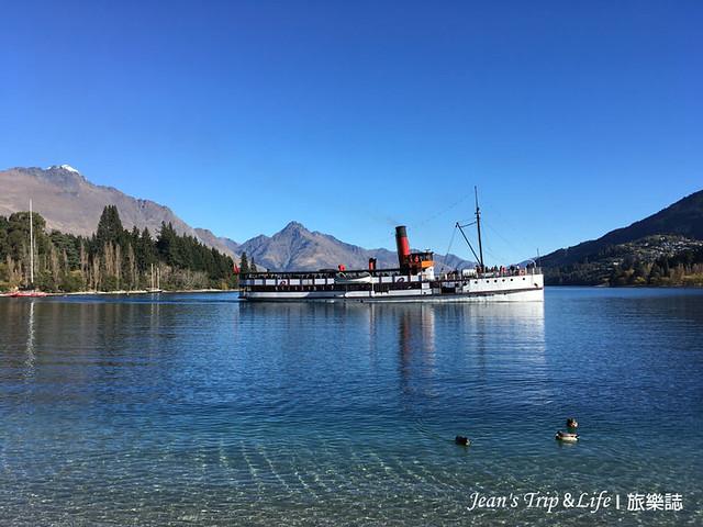 TSS 復古蒸汽船暢遊皇后鎮瓦卡蒂普湖Lake Wakatipu