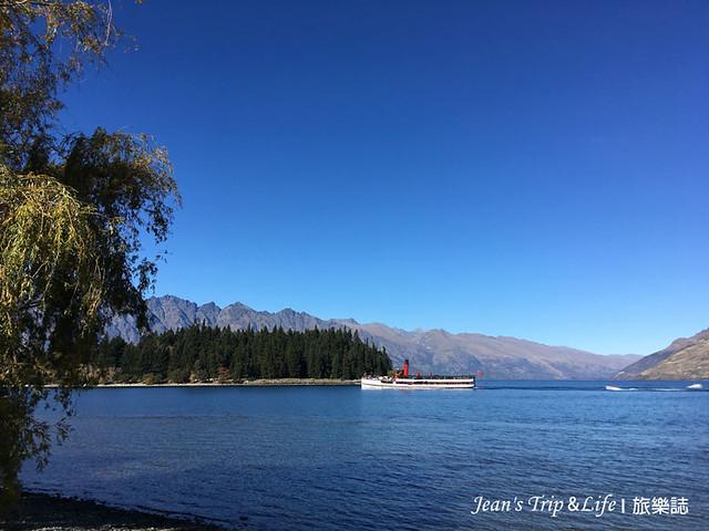 TSS 復古蒸汽船漫遊於瓦卡蒂普湖Lake Wakatipu