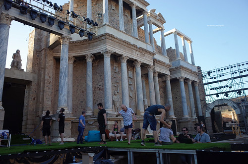 Rehearsal at Roman Theatre of Mérida