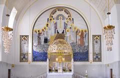 L'abside de l'église Saint-Léopold Am Steinhof (Vienne, Autriche)