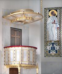 La chaire de l'église Saint-Léopold Am Steinhof (Vienne, Autriche)