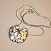 Geranium Leaf Silver Clay Pendant