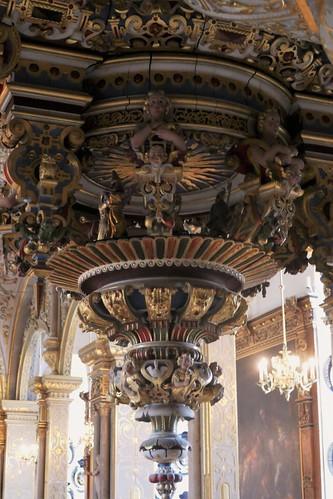 Décor du buffet d'orgues, château de Frederiksborg (XVIe-XVIIe), Hillerød, Sélande, Danemark