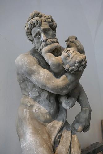 """""""Saturne dévorant ses enfants"""", salle des Chevaliers, château de Frederiksborg (XVIe-XVIIe), Hillerød, Sélande, Danemark."""