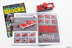 Blocks # 59 (September 2019) features the Pick-up truck instructions