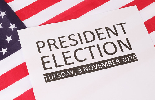 President Election date with USA flag background, From FlickrPhotos