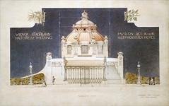 Projet pour le pavillon impérial du métro de Vienne (Cité de l'architecture, Paris)
