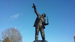 Photo of Sir Robert Alexander Watson Watt (1892 - 1973) Statue, Brechin, Feb 2020