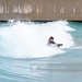 Inland outdoor artificial wave pool surfing, The Wave, Bristol, UK - 15 March 2020.