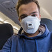 Flying with a 3M FFP3 mask because of Coronavirus