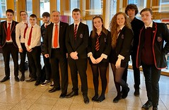 Pupils from North Berwick High School at FMQs