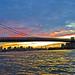 Williamsburg Bridge at Sunset seen from Domino Park Williamsburg Brooklyn New York City NY P00470 DSC_0414