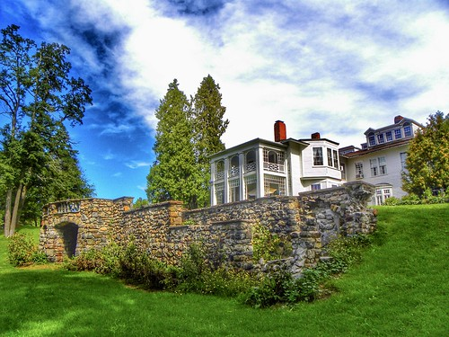 Hillside Lodge - Gaslight Village - Wyoming County -  New York -  Former Spa out of Field Stones