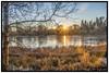 High pond sunset.