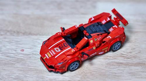 LEGO Ferrari F8 Spider F1 skin Ver.