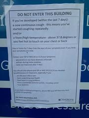 Photo of COVID-19 notice, Dunkeld Chemist