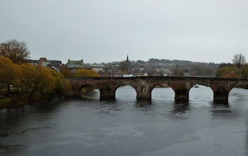 Devorgilla Bridge one of the oldest in Scotland, spans the River Nith in Dumfries