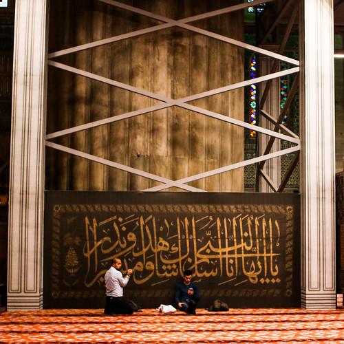 Fedeli nella moschea Blu - Istanbul