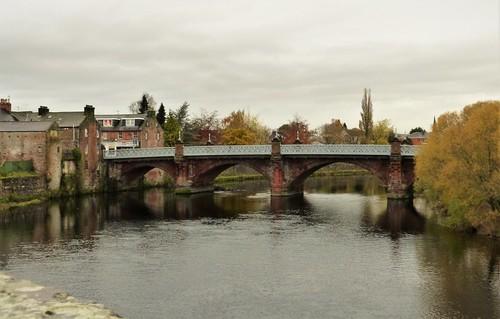 St Michael's road bridge crossing the River Nith in Dumfries
