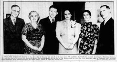 1937 - Carl Anderson marries Kathryn Bedell pic - South Bend Tribune - 7 Mar 1937