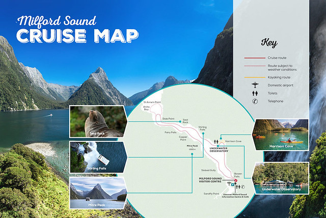米佛峽灣皮划艇地圖景點