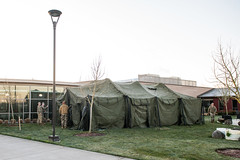 Oregon National Guard provides temporary shelters for COVID-19 testing