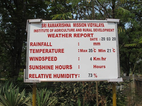 Daily Weather report - IARD, Coimbatore